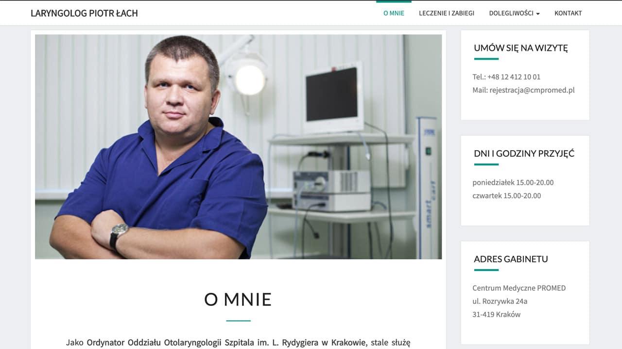 strona internetowa dla lekarza